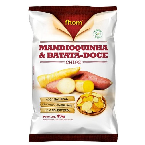 Mandioquinha e Batata Doce Chips Fhom 45g