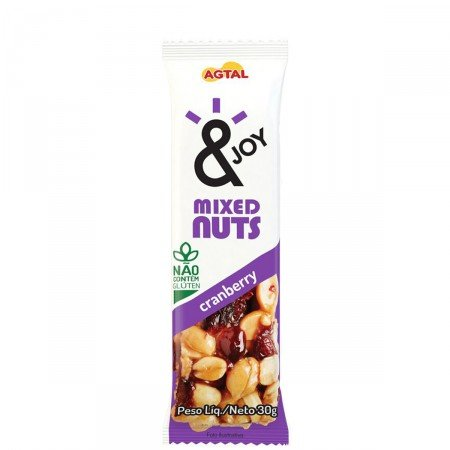Barra Mixed Nuts Cranberry &Joy by Agtal 30g