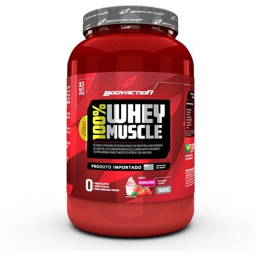 100% Whey Muscle Morango Body Action 900g