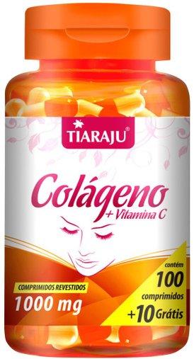 Colágeno + Vitamina C 1000mg Tiaraju 100 + 10 Comprimidos