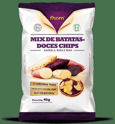 Mix de Batatas Doces Chips Fhom 45g