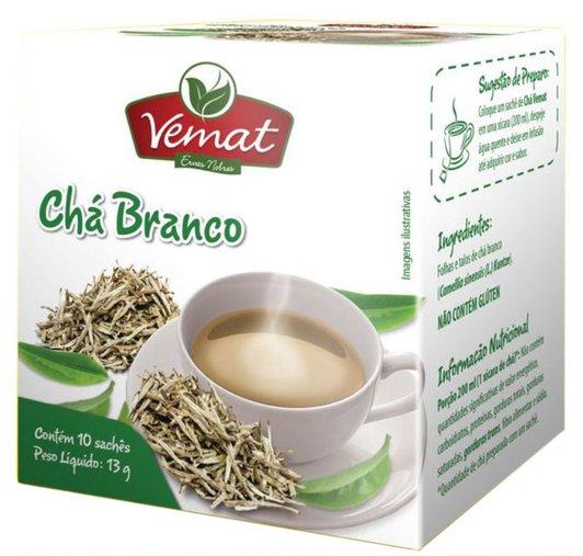 Chá Branco com 10 sachês Vemat 13g