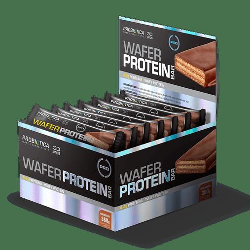 Wafer Protein Bar Chocolate com Avelã Probiótica 12 und x 45g