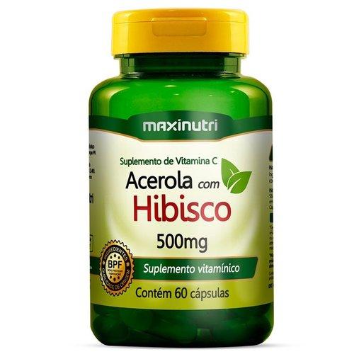 Hibiscus com Acerola Maxinutri 500 mg 60 Cápsulas
