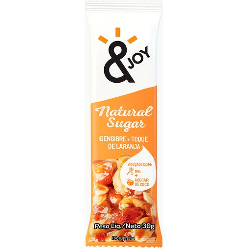 Barra & Joy Natural Sugar Gengibre e Laranja Agtal 30g