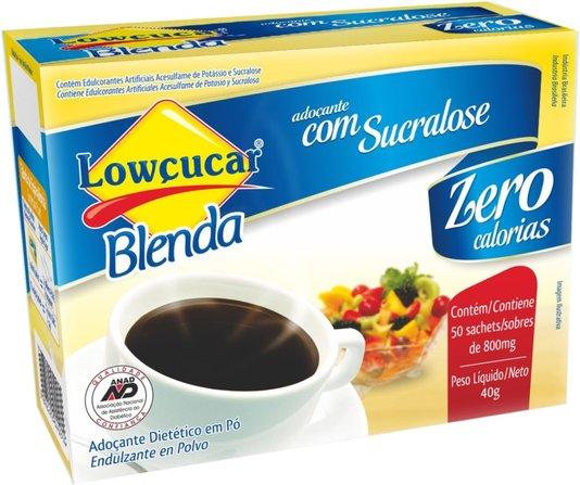 Adoçante Blenda Sucralose Lowçucar 50 Saches