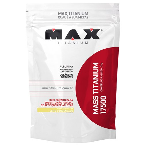 Mass Titanium 17500 Leite Condensado Max Titanium 3Kg