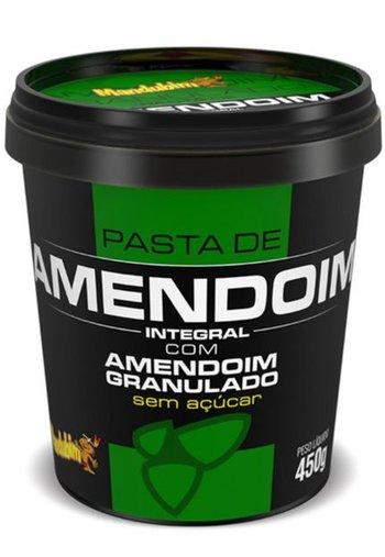 Pasta de Amendoim Granulado Sem Açúcar Mandubim 450g