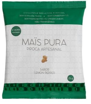 Pipoca Artesanal Mais Pura sabor Lemon Pepper 25g