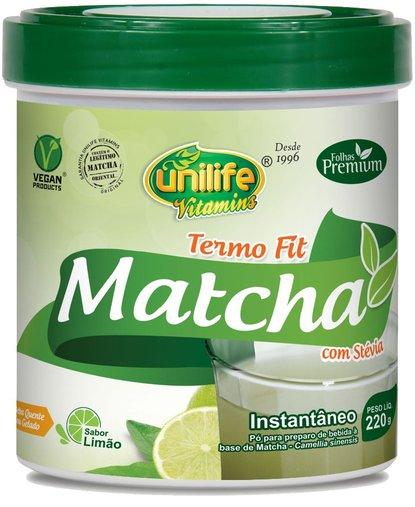 Matcha Termo Fit Sabor de Limão Unilife 220g