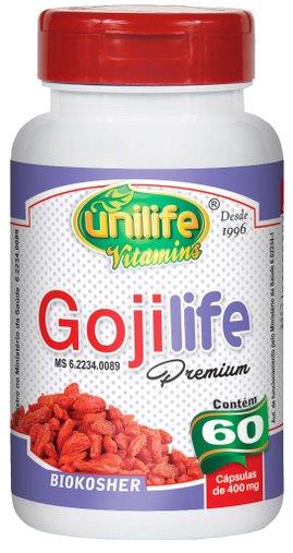 Goji Life Premium Goji Berry 400mg Unilife 60 Cápsulas