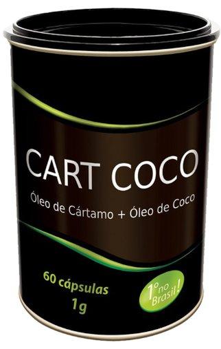 Cart Coco 1000mg Óleo de Cartamo + Óleo de Coco Tiaraju 60 Cápsulas