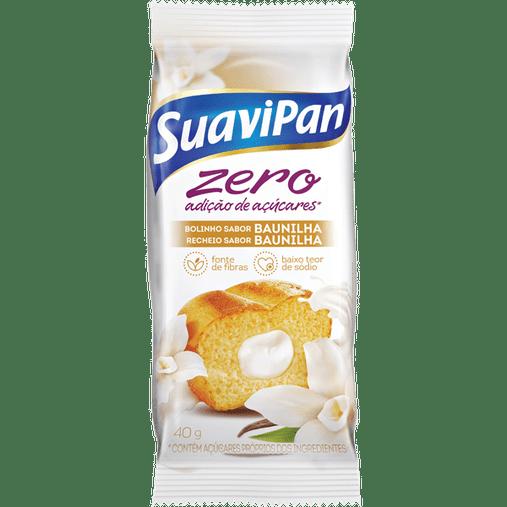 Bolinho Zero Açúcar sabor Baunilha com Recheio de Baunilha Suavipan 40g