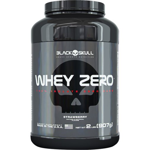 Whey Zero Morango Black Skull 907g