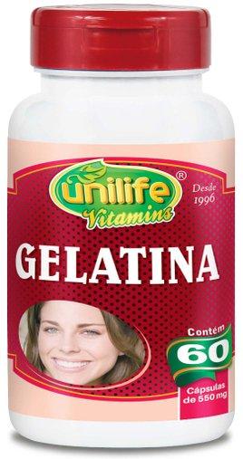 Gelatina 550mg Unilife 60 Cápsulas