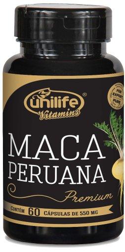 Maca Peruana Premium 550mg Unilife 60 Cápsulas