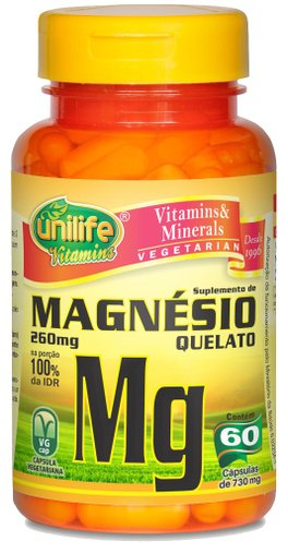 Magnésio Quelato MG 260mg Unilife 60 Cápsulas