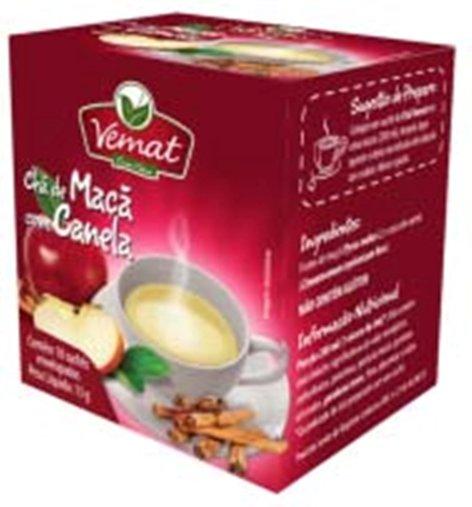 Chá De Maçã Com Canela com 10 Sachês Vemat 13g