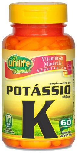 Potássio Vitamina K 560mg Unilife 60 Cápsulas