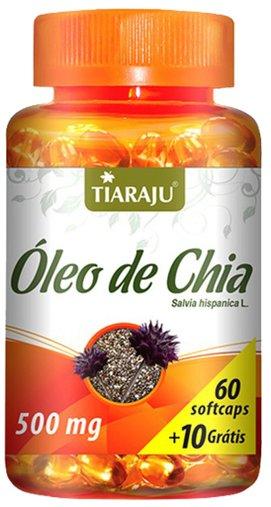 Óleo de Chia 500mg Tiaraju 60 + 10 Cápsulas