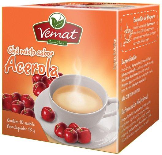 Chá Misto Sabor Acerola com 10 Sachês Vemat 13g