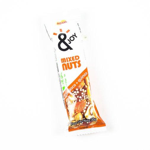 Barra Mixed Nuts Damasco e Quinoa Agtal 30g