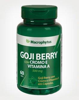 Goji Berry com Cromo e Vitamina E e A Macrophytus 500mg 60 Cápsulas