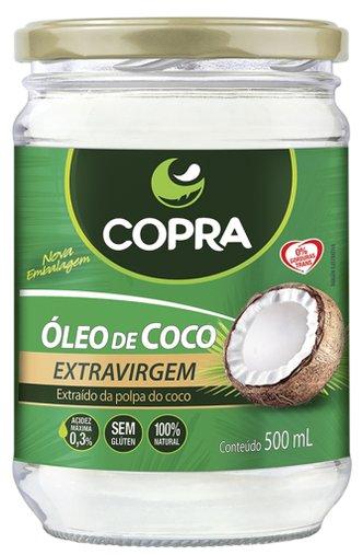 Óleo de Coco Extra Virgem Acidez Máxima 0,3% Copra  500 mL