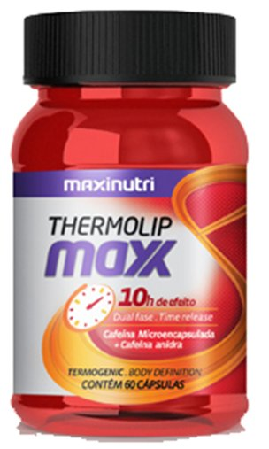 Thermolip Max Cafeína 420mg Maxinutri 60 Cápsulas