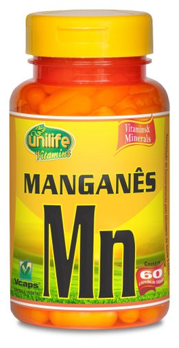 Manganês Quelato Unilife 500mg 60 Cápsulas