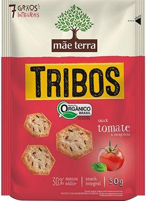 Biscoito Tribos Orgânico Tomate e Manjericão  Mãe Terra 50g