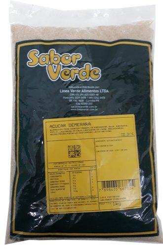 Açúcar Demerara Sabor Verde 1kg