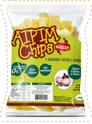Aipim Chips Cebola e Salsa Muller 500g