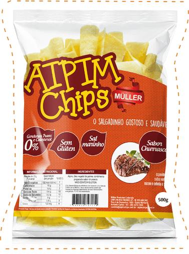 Aipim Chips Churrasco Muller 500g