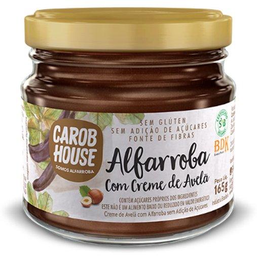 Alfarroba com Creme de Avelã Zero Açúcar Sem Glúten e Lactose Carob House 165g