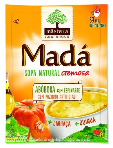 Sopa Madá Abóbora com Espinafre Mãe Terra 17g