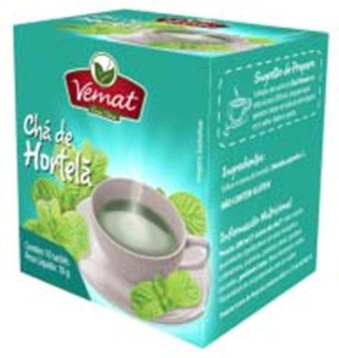 Chá de Hortelã com 10 Sachês Vemat 10g