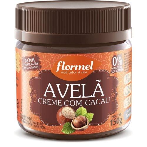 Creme de Avelã com Cacau Zero Açúcar Flormel 150g