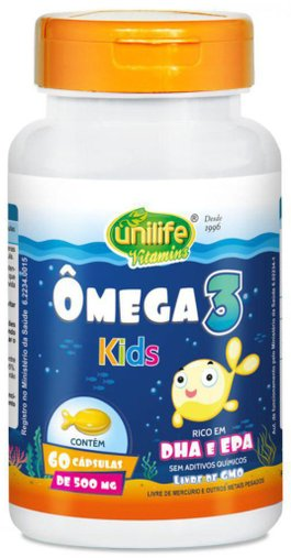 Ômega 3 Kids 500mg Unilife 60 Cápsulas
