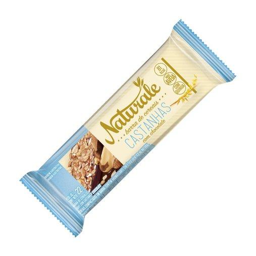 Barra de Cereal Castanhas e Chocolate Naturale 22g