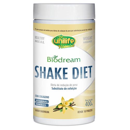 Biodream Shake Dietético Sabor Baunilha Unilife 400g