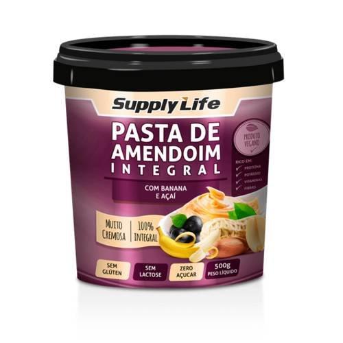 Pasta de Amendoim Integral com Banana e Açaí Supply Life 120g