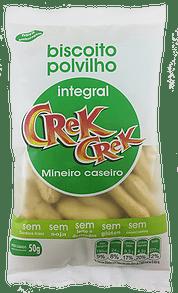 Biscoito De Polvilho Integral Crek Crek Sabor Mineiro Caseiro 50g