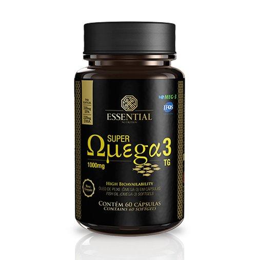 Super Omega 3 360mg EPA 240mg DHA Essential Nutrition 1000mg 60 Cápsulas