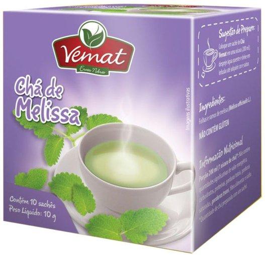 Chá de Melissa com 10 sachês Vemat 10g
