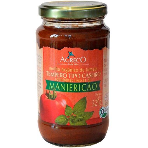 Molho Orgânico de Tomate com Manjericão Agreco 325g
