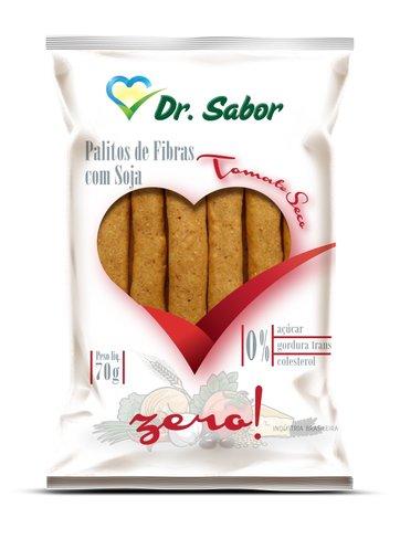 Biscoito Palito de Fibras Sabor Tomate Seco Dr Sabor 70g
