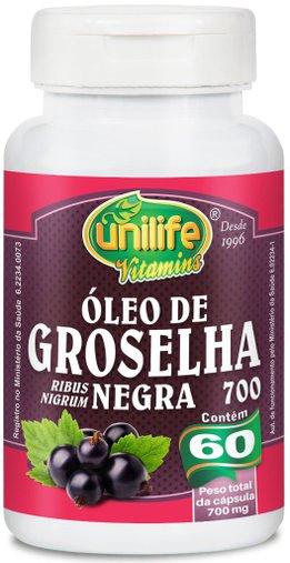 Óleo de Groselha Negra 500mg Unilife 60 Cápsulas