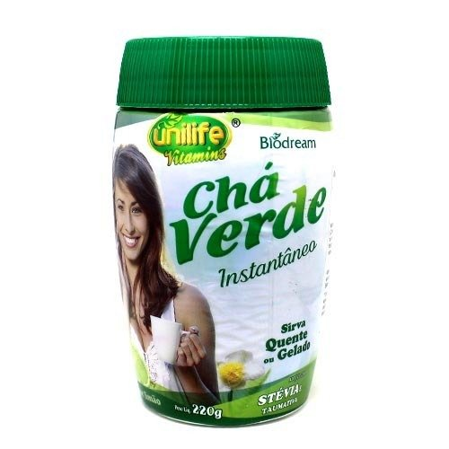 Chá Verde Solúvel Instantâneo Sabor de Limão Biodream Unilife 220g