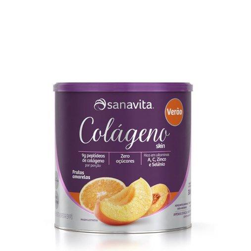 Colágeno Hidrolisado Especial Verão sabor Frutas Amarelas Sanavita 300g